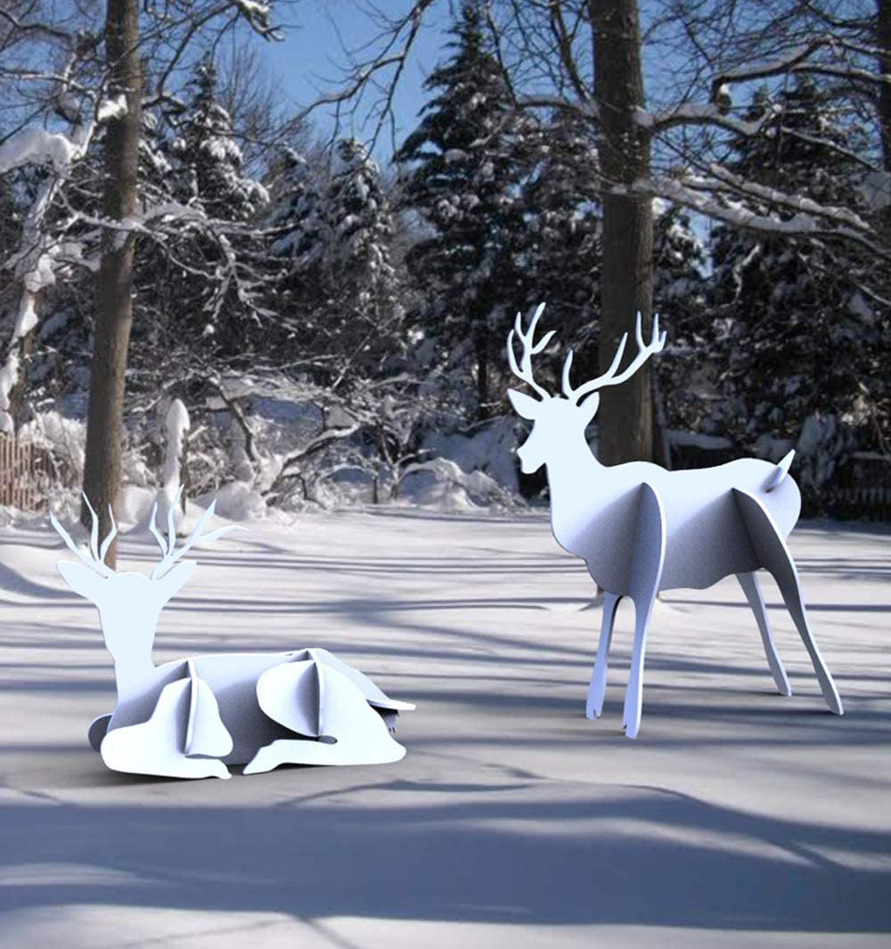 4 years warranty WoodworkersWorkshop Plans to Build a Standin of Pair Reindeer 3D Today's only