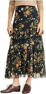 LAUREN RALPH LAUREN Womens Laucar Floral Print Tiered Peasant, Boho Skirt