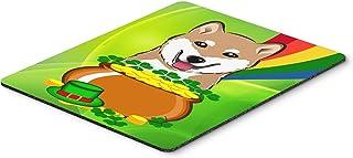 Caroline's Treasures BB1969MP Shiba Inu St. Patrick's Day Mouse Pad, Hot Pad or Trivet, Large, Multicolor