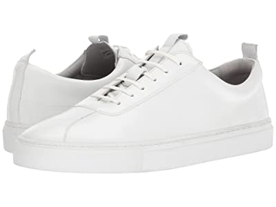 Grenson Calf Low Top Sneaker (White) Men