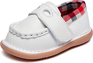 Toddler Boy's Squeaky Shoes Strap Prewalker Flat Casual Sneakers Baby Boys First Walkers