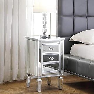 Amazon Com Glass Nightstands Bedroom Furniture Home Kitchen
