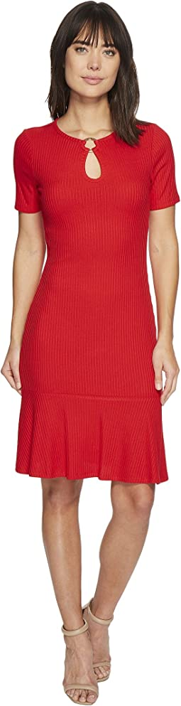 MICHAEL Michael Kors - Ring Keyhole Rib Dress