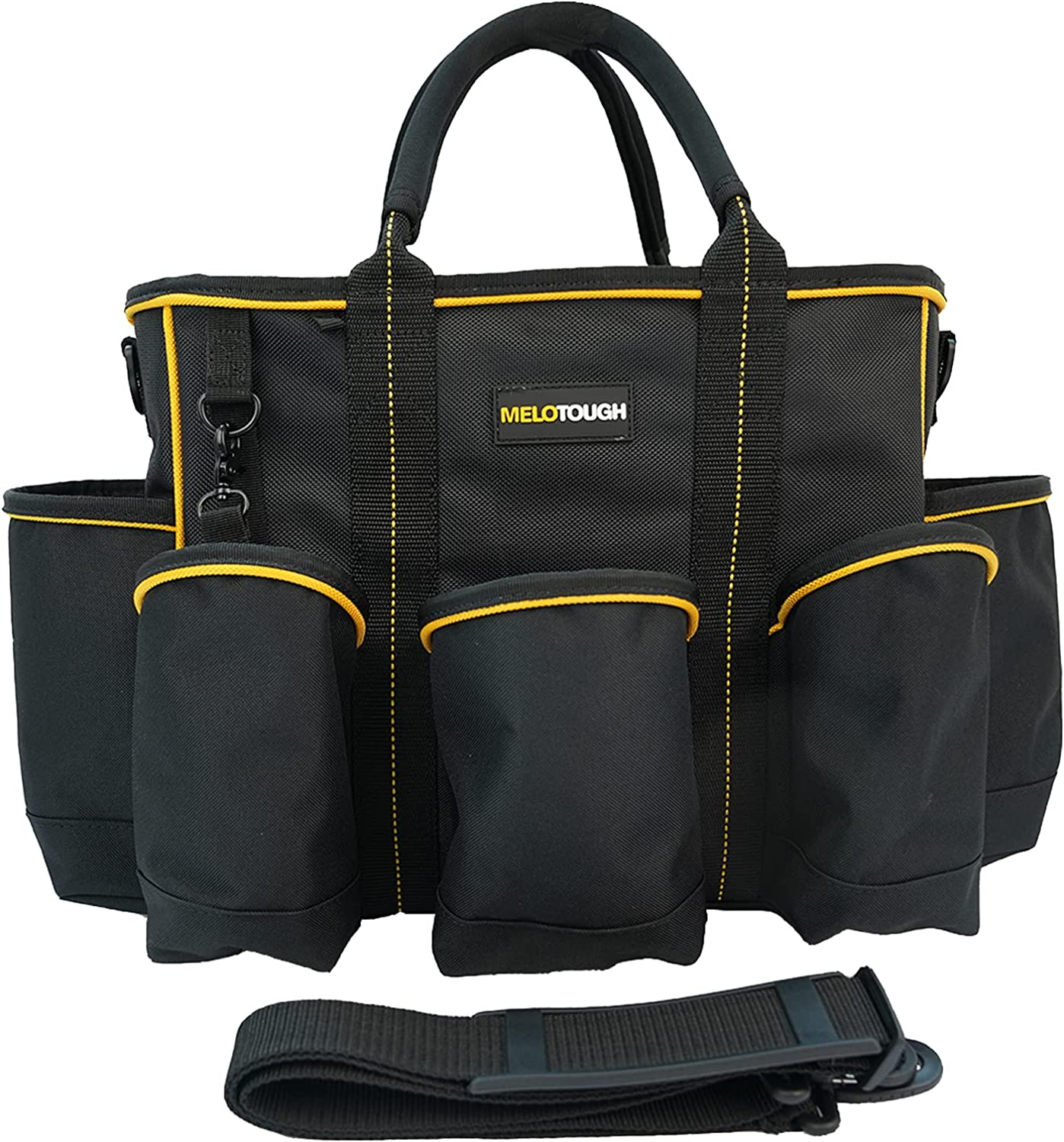 Melo Tough 14 Columbus Mall inch Max 61% OFF Supply bag Top Organi tool Open Tool Tote