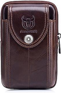 Riñonera Hombre Cuero Bolsa Bolso de Cintura Cinturón Bolsillo Cartera Funda para 4~6 Pulgada Smartphone iPhone 8/7/6/Plus Samsung Galaxy S8 Note 8