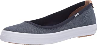 حذاء باليه مسطح للسيدات من Keds لون شامبراي دينيم 9 M