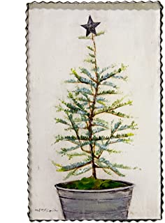 The Round Top Collection Natural Tree with Tin Star - Meta & Woodl