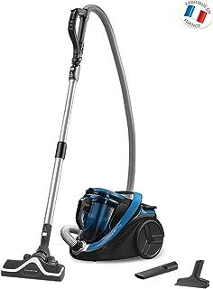 Rowenta Silence Force Cyclonic Classic RO7611EA Aspirador trineo sin bolsa, 750 W, silencioso 67 dB, capacidad 2.5 L, color azul y negro