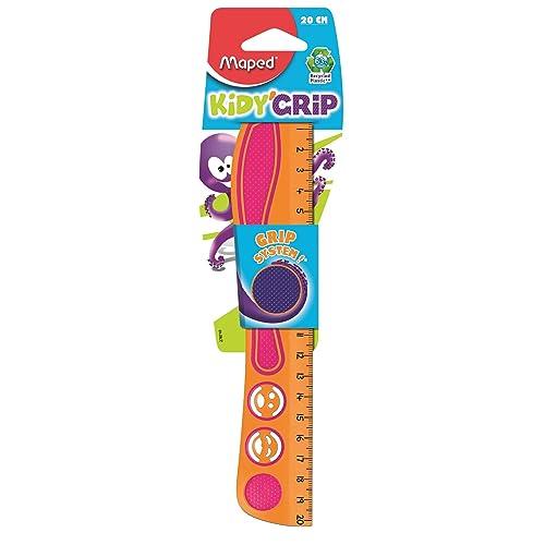 Maped Règle plate Kidy Grip, 20 cm, en plastique