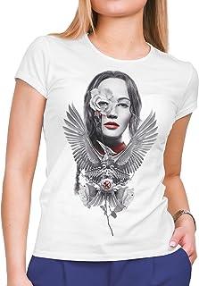 DibuNaif Camiseta Mujer Cine Hunger Games Sinsajo - Mockingjay