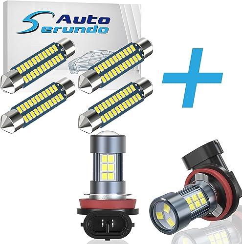 Serundo Auto 4pcs 578 Led Bulb + 2pcs H11 Fog Light