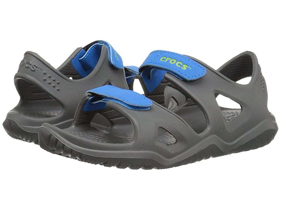 Crocs Kids Swiftwater River Sandal (Toddler/Little Kid) (Slate Grey/Ocean) Kids Shoes