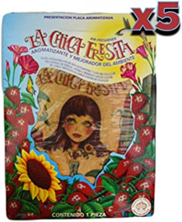 Parts Direct cf-5 5X The Original La Chica Fresita Automotive Air Freshener, Strawberry, 5 Piece