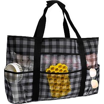 OOSAKU Sac fourre tout de plage sac de voyage de pique nique avec poches surdimensionn/ées
