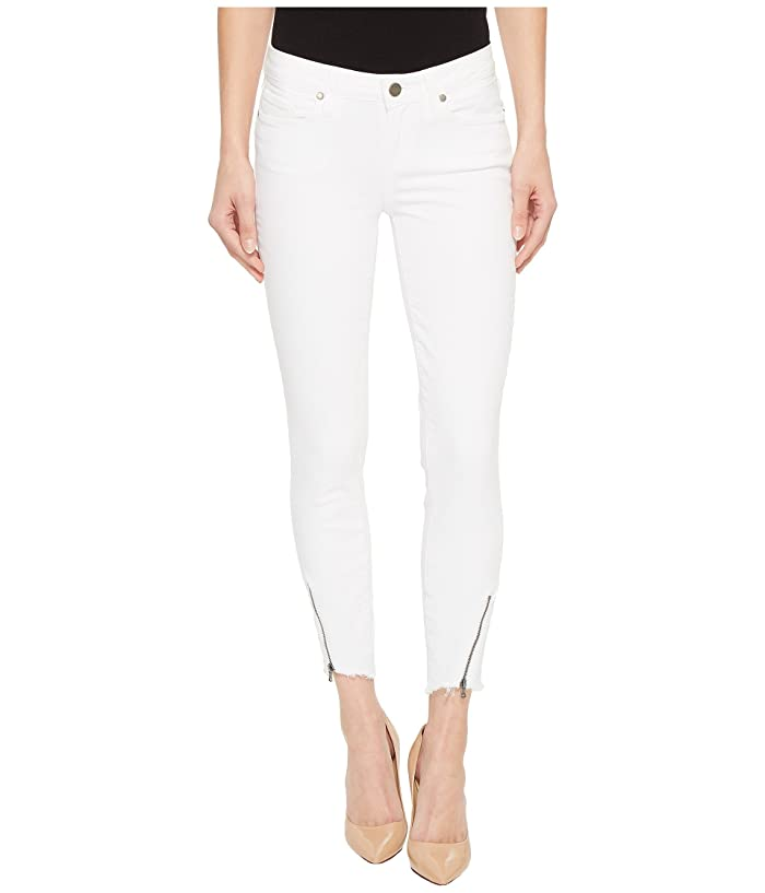 a978493430b Paige Verdugo Crop w/ Angled Zip and Raw Hem in Crisp White at 6pm