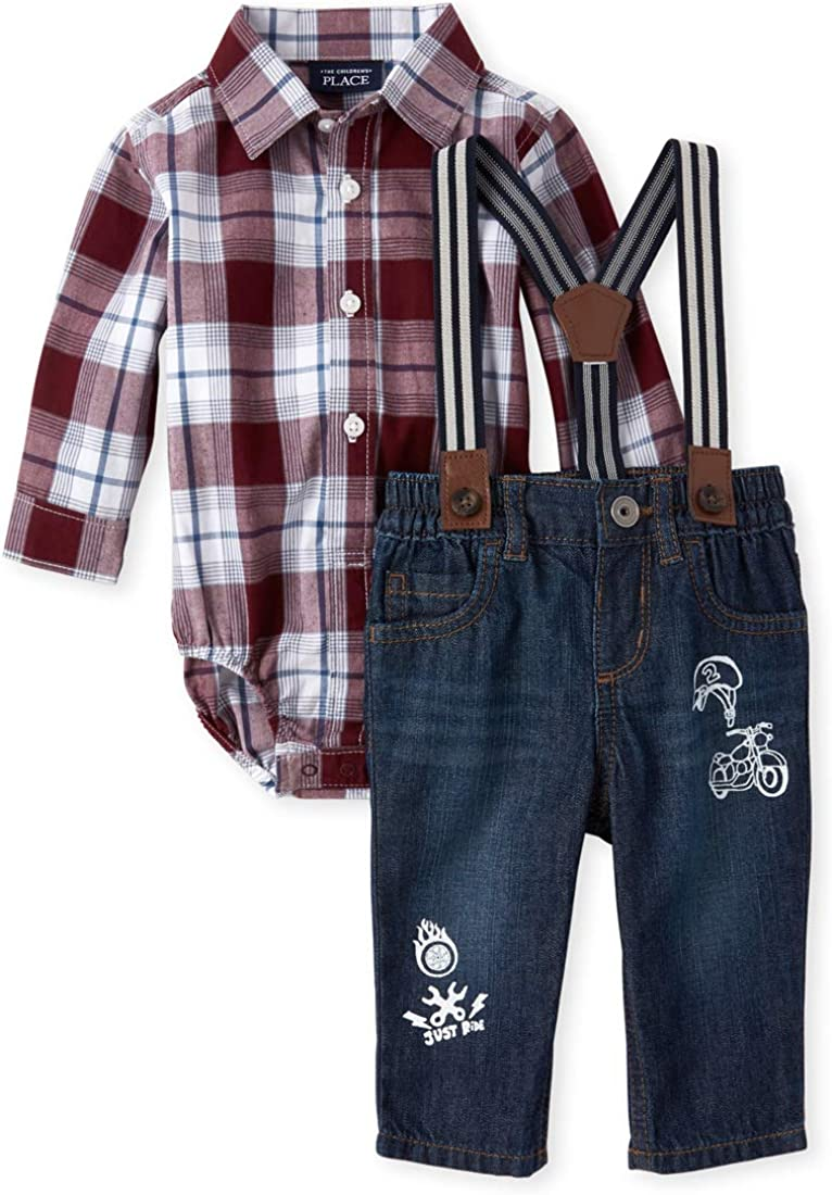 The Children's Place baby-boys Long Sleeve Shirt Set
