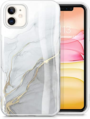 GVIEWIN Marble iPhone 11 Case, Ultra Slim Thin Glossy Soft TPU Rubber Gel Phone Case Cover Compatible iPhone 11 6.1 I...