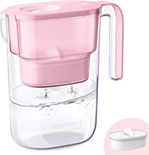 Waterdrop 5-Cup Water Filter Pitcher with 1 Filter, Long-Lasting (200 gallons), 5X Times Lifetime Filtration Jug, Reduces Lead, Fluoride, Chlorine and More, BPA Free, Pink, Model:WD-PT-05P