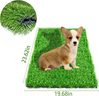 Fortune-star Artificial Grass for Dogs Pee Pads Dog Grass Mat and Grass Doormat Indoor Outdoor Rug Drainage Holes Fake Grass Turf for Puppy Potty Training Area Patio Lawn Decoration