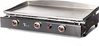 Plancha Tonio - Plancha Lagoa 15 à 30 personnes - Gaz butane propane - Plaque de cuisson inox 5mm – Caisson Tout Inox – 78...