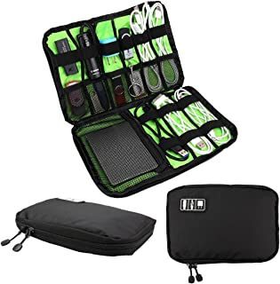 Sungpunet Cable Organizer Electronic Accessories Travel Bag Hard Drive Carry Case for USB Phone Charger Charging Cable Pow...