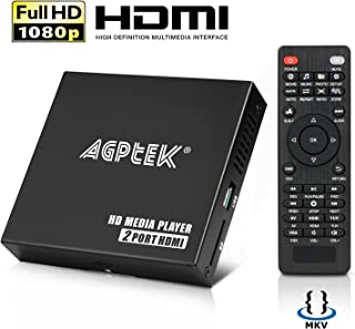 MYPIN Lecteur Multimedia à Double Ports Boîtier Media Player hdmi Mini HD TV Lecteur..