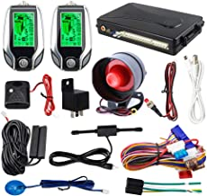 EASYGUARD 2 Way car Alarm System EC204 with PKE Passive keyless Entry, Rechargeable LCD Pager Display & Shock Warning DC12V