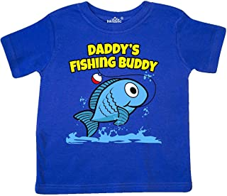 Daddy's Fishing Buddy (Blue) Toddler T-Shirt