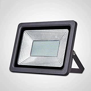 Aaedrag 100w Garden Garage Forecourt LED Flood Lights Super Bright Outdoor Outside External Wall Spotlight for Doorways Ba...