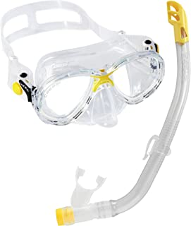 Cressi C/Set Estrella VIP Jr Clear/Lime Kit de Snorkeling,