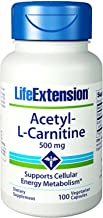 Acetyl L Carnitine 500mg Life Extension 100 VCaps