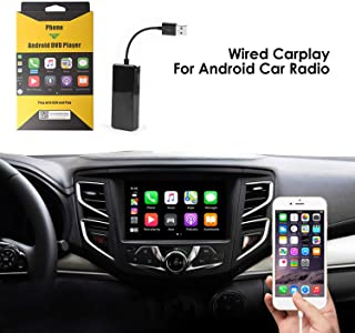 USB Car Play Dongle Auto, Mirroring, Mini Smartphone Link Receiver Adapter Auto Navigation Multimedia Player for Smartphone (Black),