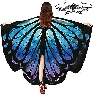 FEOYA Women Butterfly Cape Halloween Party Soft Wings Shawl Costume Fairy Decoration Festival Party