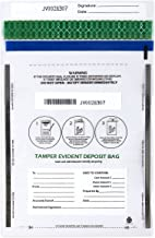 Deposit Bags - 100-Piece Tamper-Evident Bags, Tamper Proof Self-Adhesive Seal Clear Plastic Poly Bags for Bank Deposits, Transparent, 13.19 x 8.86 Inches