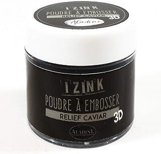 Aladine - Poudre à Embosser Izink Caviar - Embossing - Effet Volume 3D pour Scrapbooking et Carterie Créative - Scrap en R...