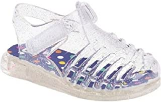 Toddler Girls Clear Glitter Soft Jelly Shoes Sandals Sz 3