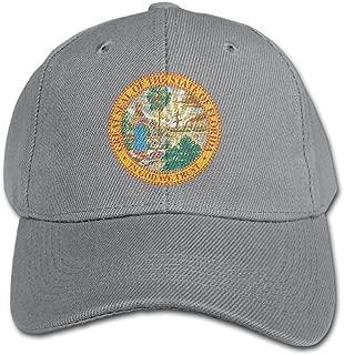 Elephant AN Florida Flag Pure Color Baseball Cap Cotton Adjustable Kid Boys Girls Hat