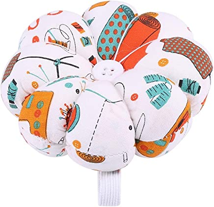 #1 Sewing Notions & Supplies HEEPDD Pin Cushion Sewing Floral Pumpkin Design Sewing Kit Storage Pins for Removable Tray Built-in Pin Cushion Notions Package Wrist Belt Decoration Sewing