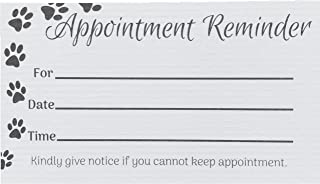 100 Paw Print Appointment Reminder Cards - for Business, Grooming, Groomers, Veterinarians, Vets Offices, Pet Hospital, Animal Orphanages, Kennels, and other Dog and Cat Related Businesses