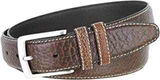 Genuine American Bison Buffalo Leather Dress Belt- 1-3/8