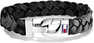 Men's Jewelry Leather Thick Braided Bracelet, Color:...