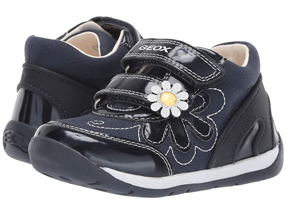 Geox Kids B Each Girl 25 (Toddler) (Navy/White) Girl