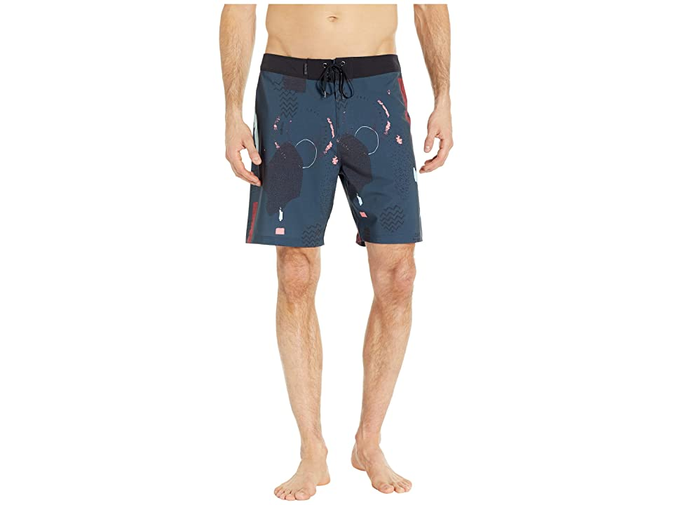 535d505000 Hurley Phantom Free Flow 18 Boardshorts (Black) Men