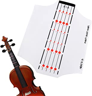 Aileen Violin Fingerboard Sticker Fret Guide Label Position Indicator without Glue for 4/4 3/4 1/2 1/4 1/8 Size (4/4)