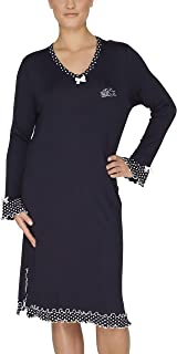 Graphit Sleepshirt 90cm Rundhals hajo Damen Nachthemd Cotton-Viscose Stretch