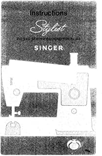 Singer 413 Sewing Machine/Embroidery/Serger Owners Manual [Plastic Comb]