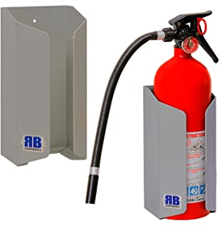 RB Components 2537 Fire Extinguisher Mount, Silver
