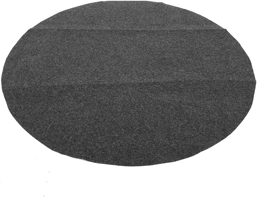Multifunction Barbecue Mat Cheap sale 36in Round Gary Floor High order Non-slip Shape