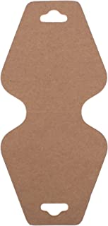 Trimweaver TW-DCARD-TRI-BROWN-100 100-Piece Triangular Fold Over Display Cards, Kraft Brown