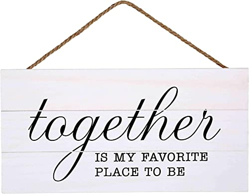 discount Together is My Favorite 2021 Place to Be Wood Plank Hanging Sign for Home Decor (13.75 x 6.9 Inches with outlet online sale White Background) outlet sale